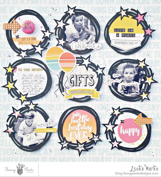 Gifts - DT layout for Fancy Pants Designs