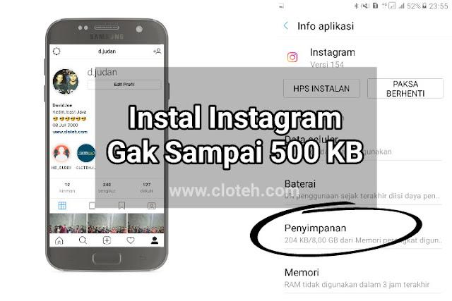 Trik Install Instagram Ukuran Kecil Tanpa Download Aplikasinya di Android
