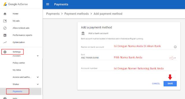 Update Metode Pembayaran Google Adsense Terbaru