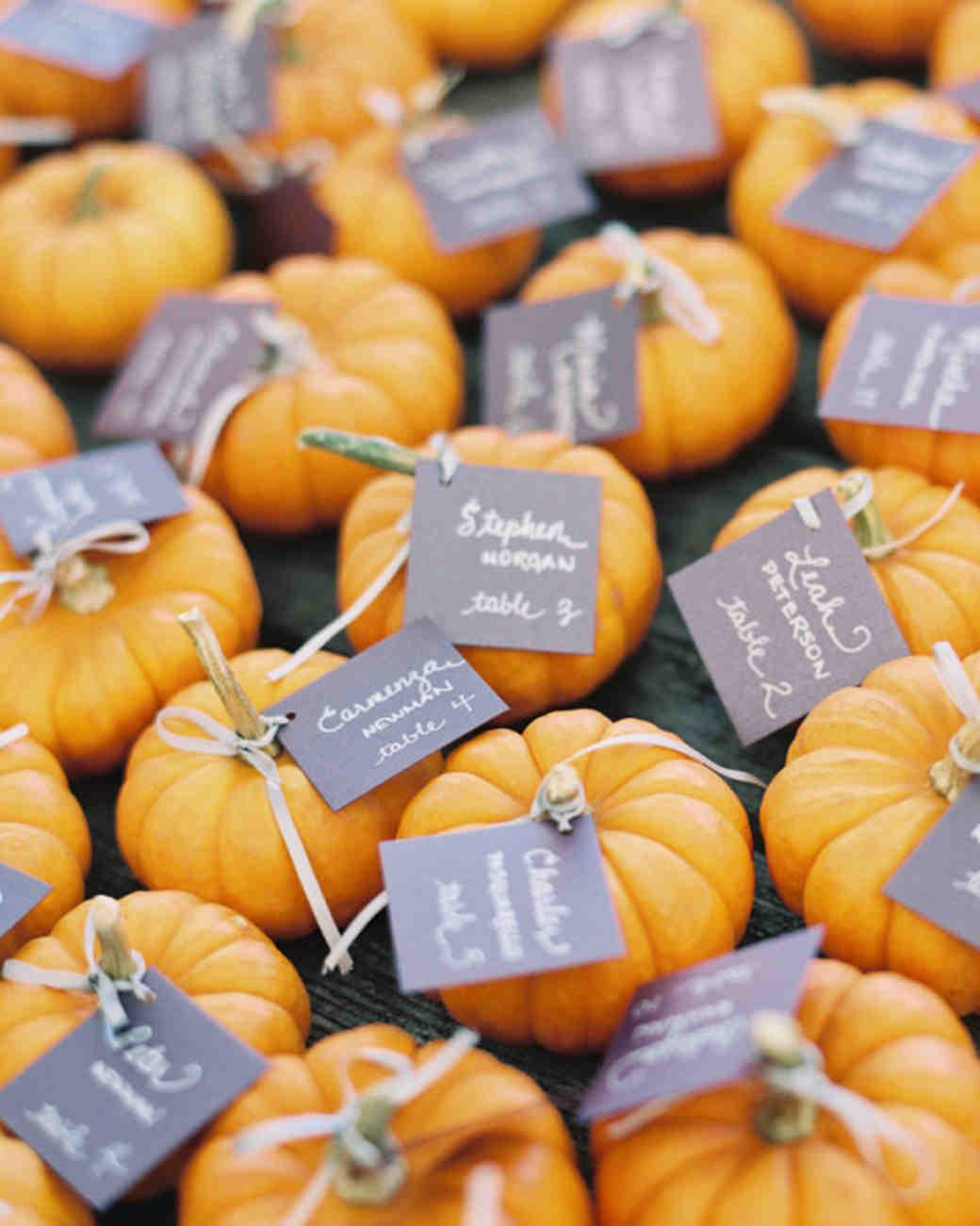 Mini Pumpkin Escort Cards