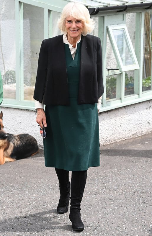 The Duchess made a visit to Kilcooley Women's Centre in Bangor and the charity Horses for People