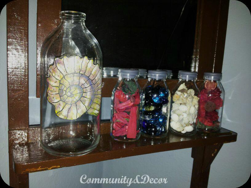 Pintar y decorar con frascas de cristal