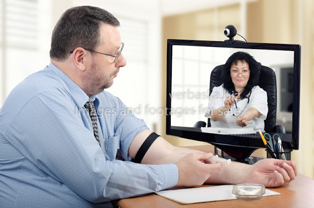 virtual appointment using a telemedicine