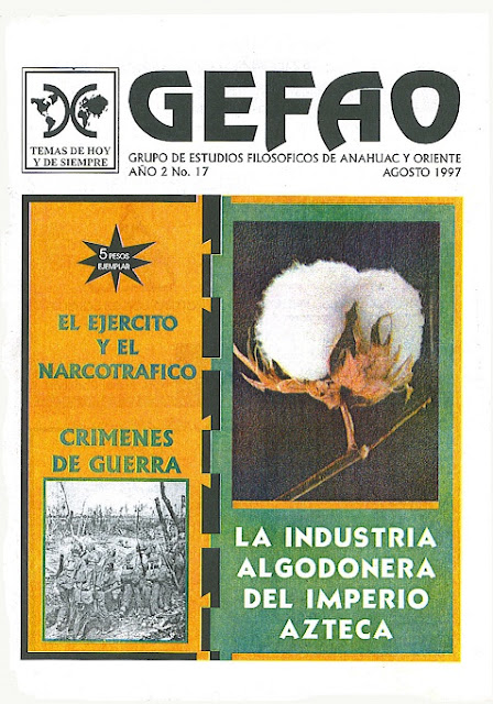 Revista Gefao La industria Algonoder Azteca