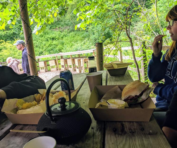Falling Foss Tea Garden (near Whitby) - lunch