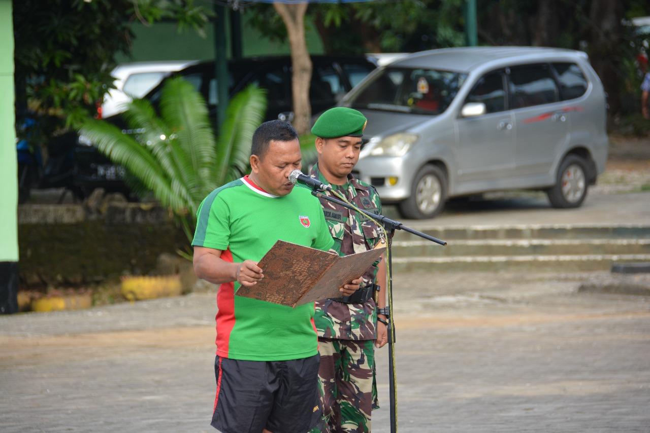 Pasca Apel Pagi, Personel Makorem 141/Tp Tiba-tiba Dikagetkan Kehadiran Anggota Denpom XIV-I Bone