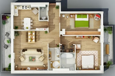 Gambar Desain Interior Rumah Tipe 36 Luas 60 Sederhana