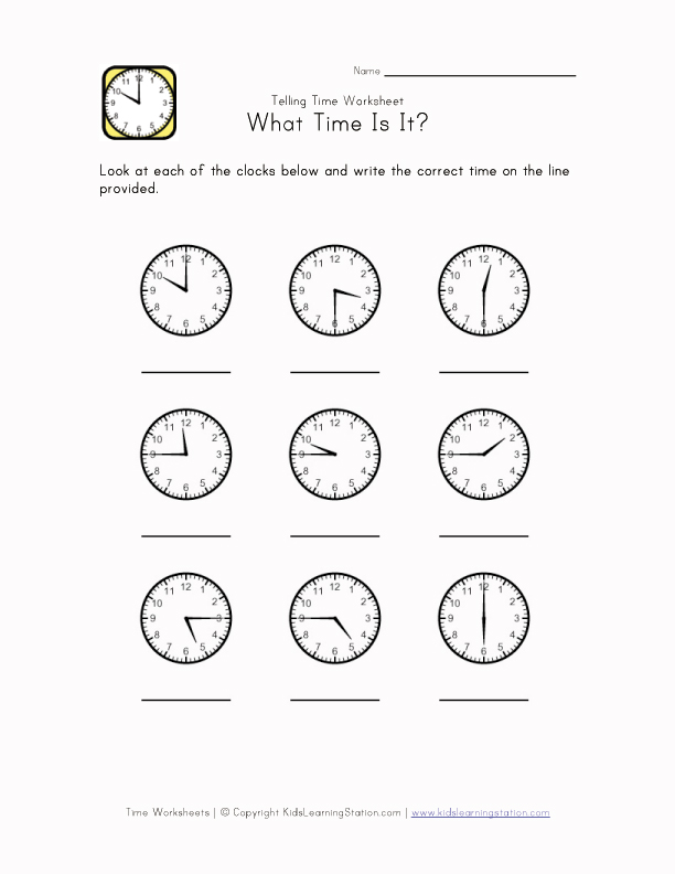 If you are having fun, you are learning.: Telling Time