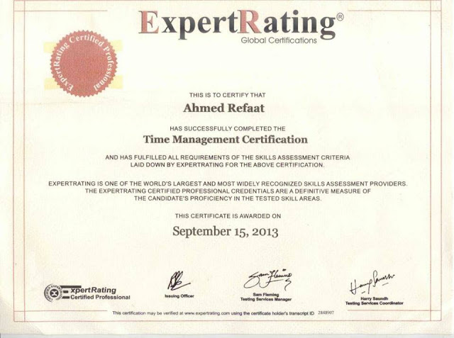 Time Management Certification - Expert Rating