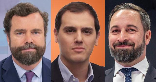 Rivera, Abascal y Espinosa de los Monteros critican la comparecencia del presidente Sánchez