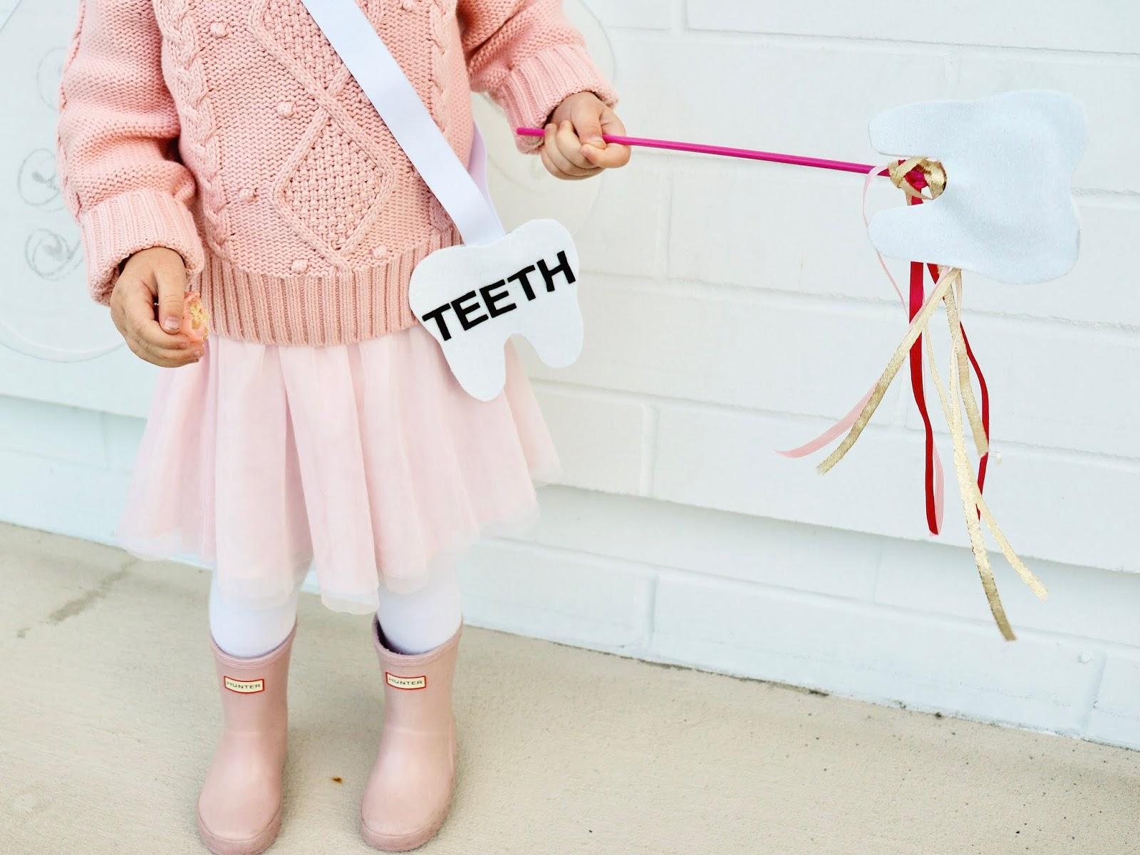 DIY tooth fairy halloween costume