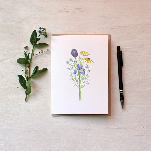 Flowers for Change Note Card - watercolor bouquet