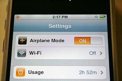 iphone şarj, uçak modu