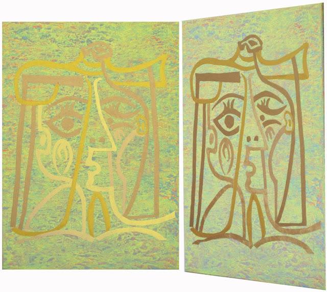 Bilder mit Blattgold, Picasso 3