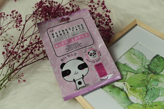 SUGU Beauty Refreshing Panda Face Sheet Mask with Apple Review (PR Sample, Produkt kostenlos zur Verfügung gestellt bekommen)