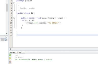 contoh program if sederhana di java