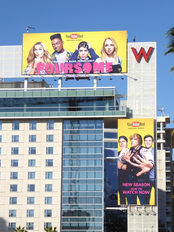 Foursome season 2 YouTube Red billboards