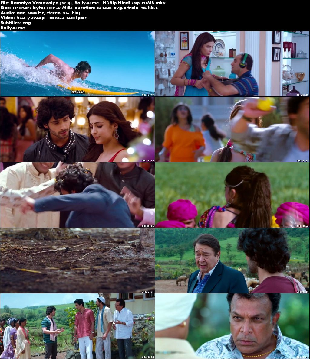 Ramaiya Vastavaiya 2013 HDRip 999MB Hindi 720p ESub Download