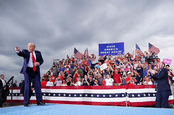 Trump at a rally in Winston-Salem