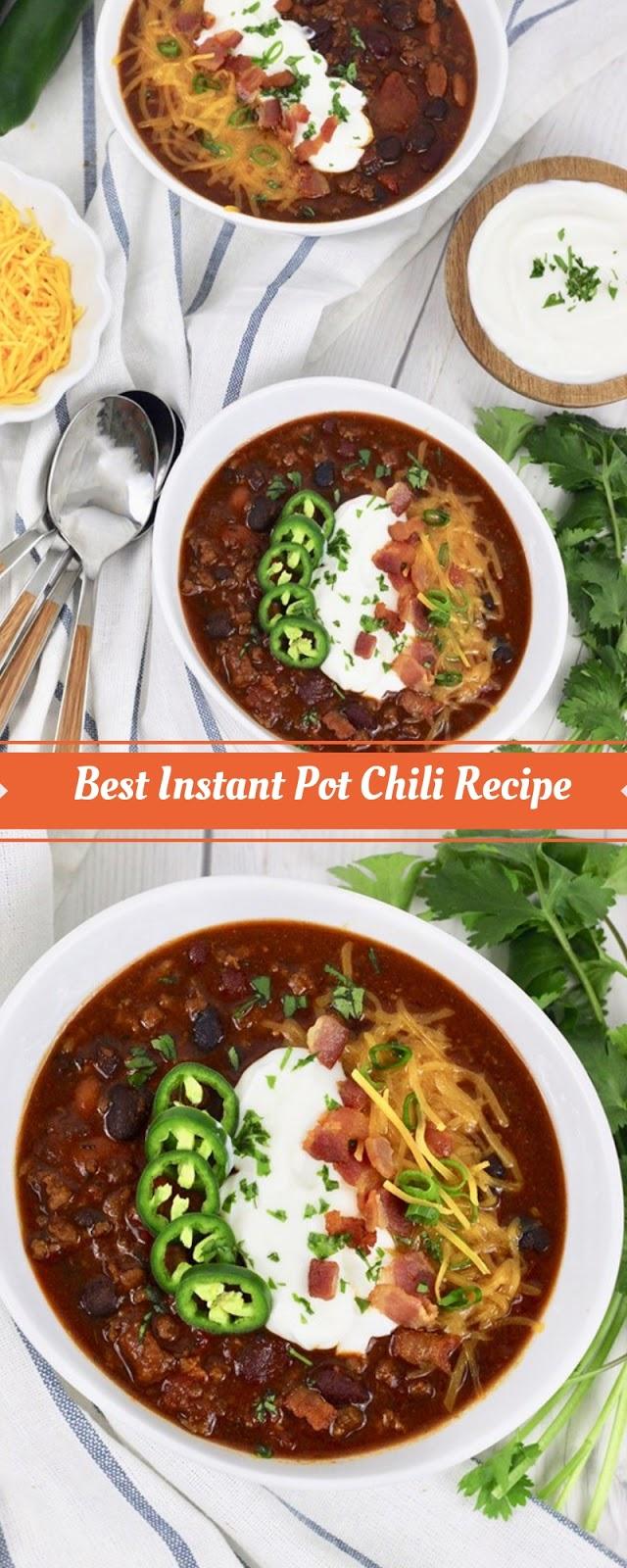 Best Instant Pot Chili Recipe