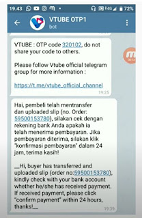 kode telegram transfer vtube