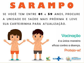 Registro-SP notifica 17 casos suspeitos de Sarampo