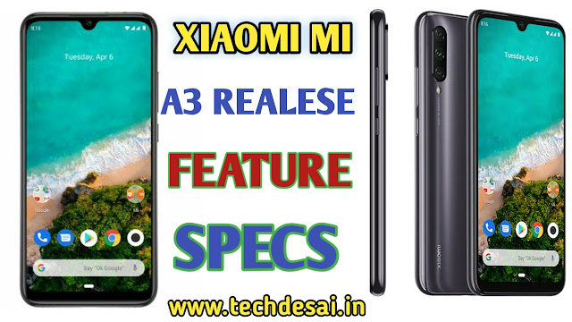 xiaomi redmi a3 price and feature full specifications