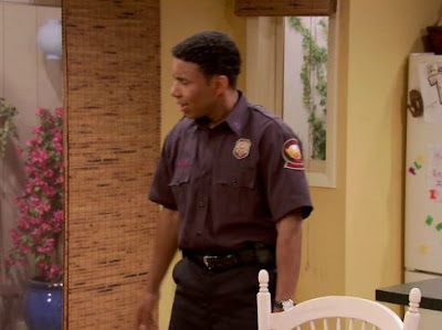 Allen Payne in police dress for his Tv show