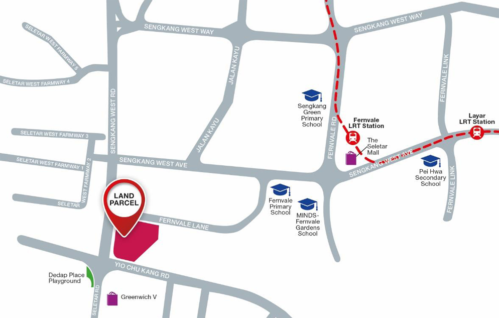 Fernvale Lane EC Location Map