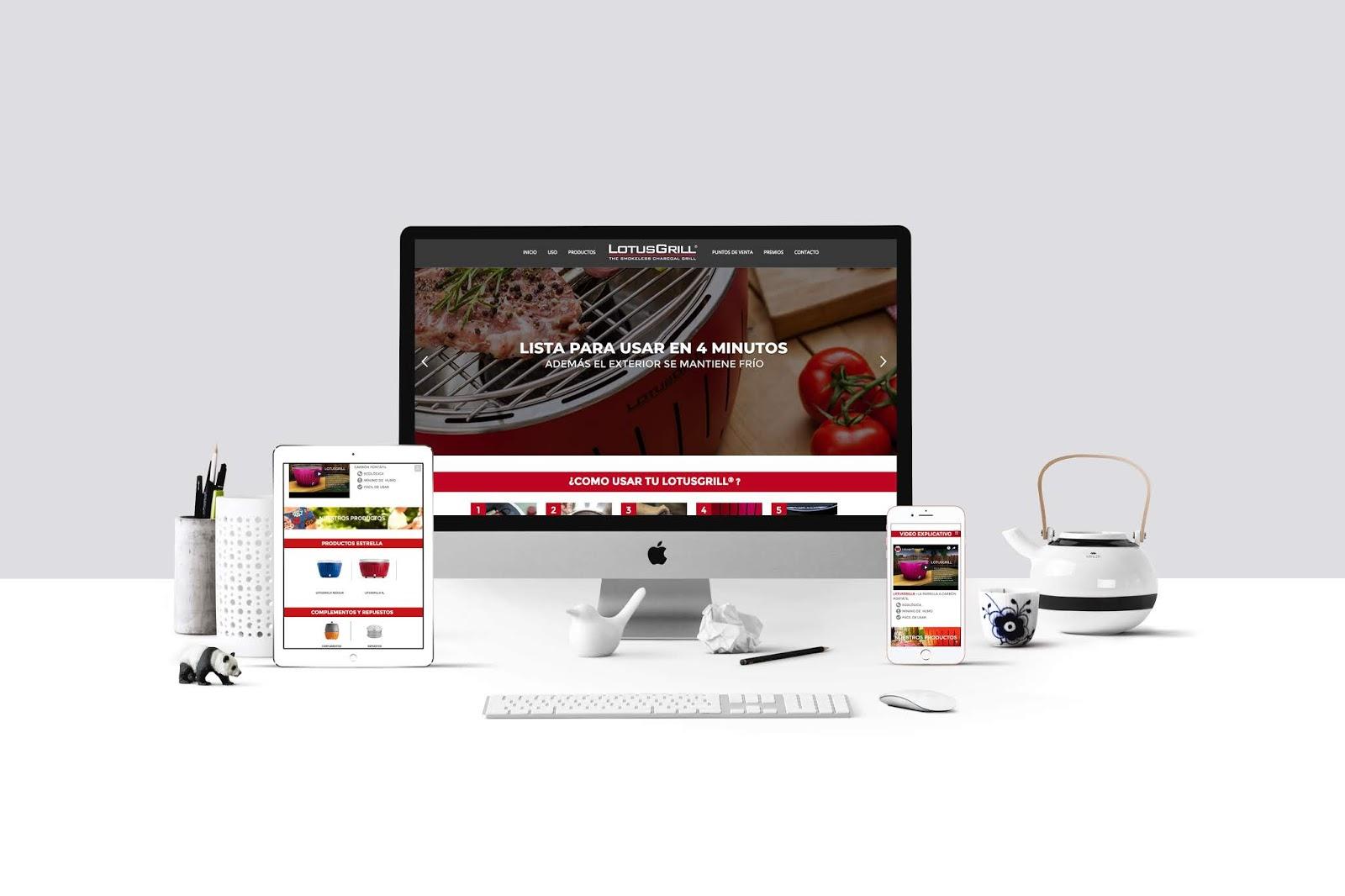 DISEÑO WEB LOTUSGRILL - BOLIVIA