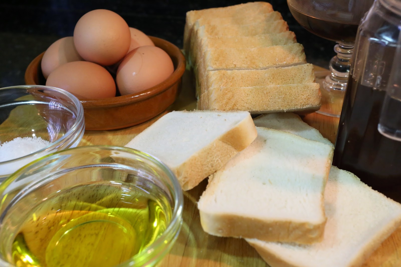 Ingredientes para torrijas