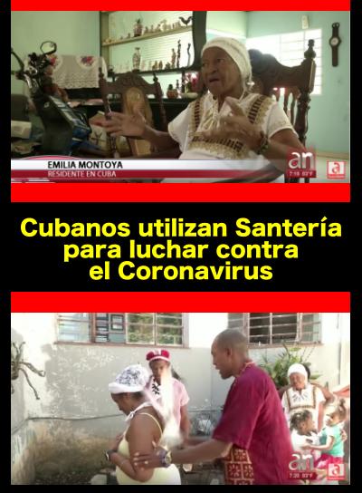 santeria para luchar contra el coronavirus