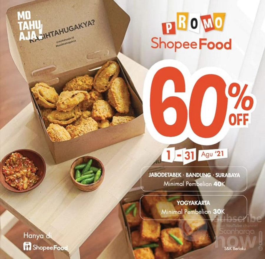 Mo Tahu Aja Promo Diskon hingga 60% via Shopee Food