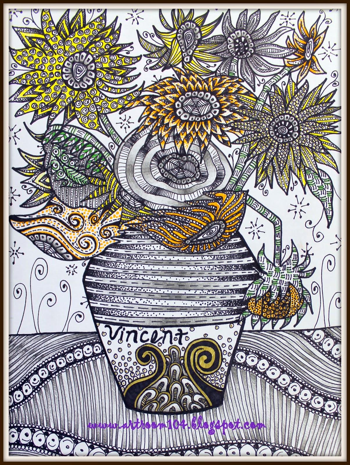 Art Room 104 More Zentangles Zentangle Paro S Picture
