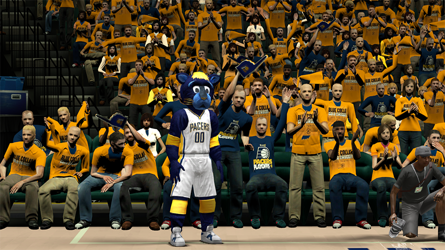 Pacers Blue Collar Gold Swagger Crowd in NBA 2K14