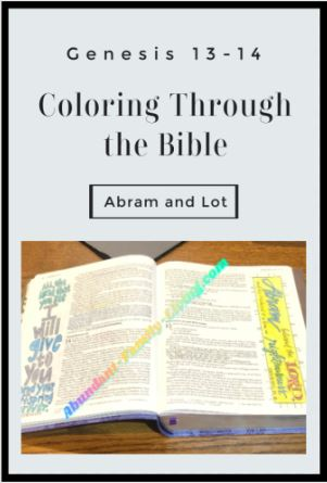 Genesis 13-14, Abram and Lot, Coloring Through the Bible