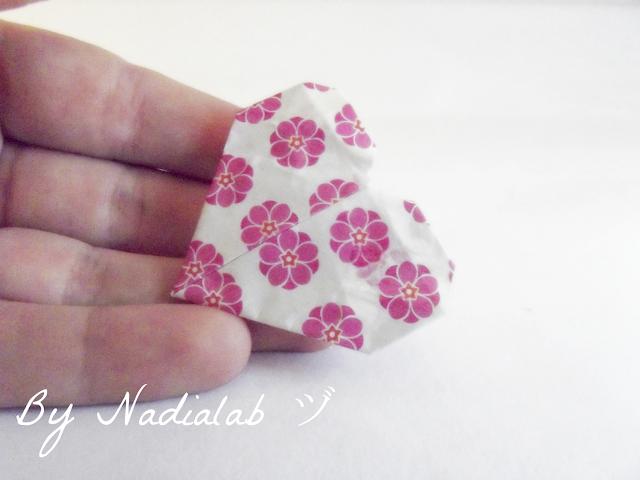 spilla cuore origami