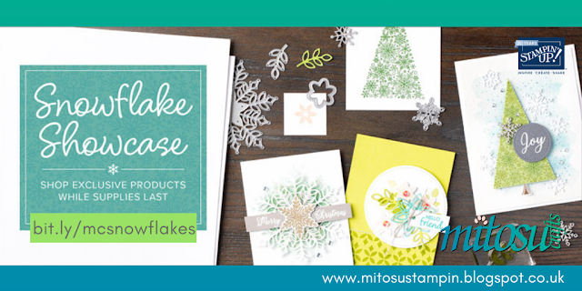 Stampin' Up! Exclusive Limited Time Products. Order Snowflake Showcase Online from Mitosu Crafts UK