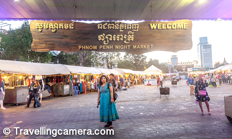 Phnom Penh night market, though a popular tourist spot, can be quite disappointing for some people. So if you are tight on time, and are anyways planning to visit Siem Reap, you can choose to give this a miss.