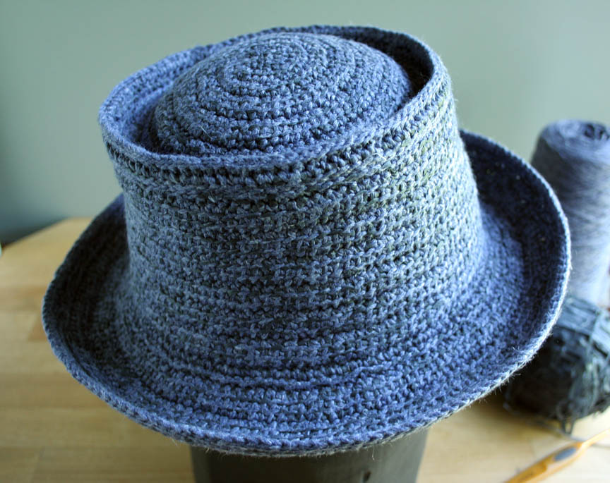 This hat is similar to the crochet Pork Pie that I designed for Vogue  Knitting — except that my Kings County Pork Pie is worked entirely in  Tunisian Crochet ... a6dd567839a