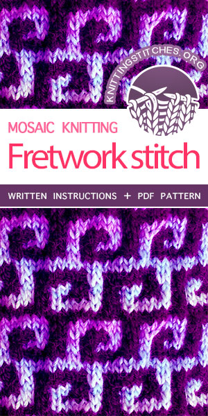 Knitting Stitches -- LEARN TO KNIT Fretwork knit stitch #learntoknit #knittingstitches