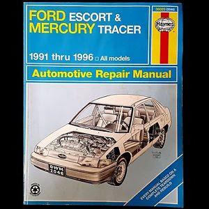 Ford Escort Mercury Tracer 1991 1996 Haynes Repair Manual border=