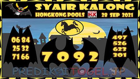 Kalong HK Selasa 28 September 2021 -
