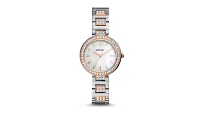 Harga jam tangan Fossil Karli Three-Hand Two-Tone Stainless Steel Watch - BQ3337