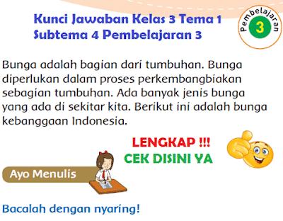 Kunci Jawaban Kelas 3 Tema 1 Subtema 4 Pembelajaran 3 www.simplenews.me