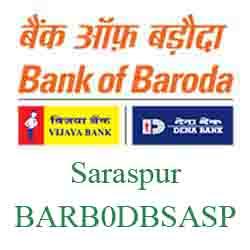 IFSC Code Dena Bank of Baroda Saraspur