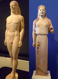 скульптуры архаичного периода