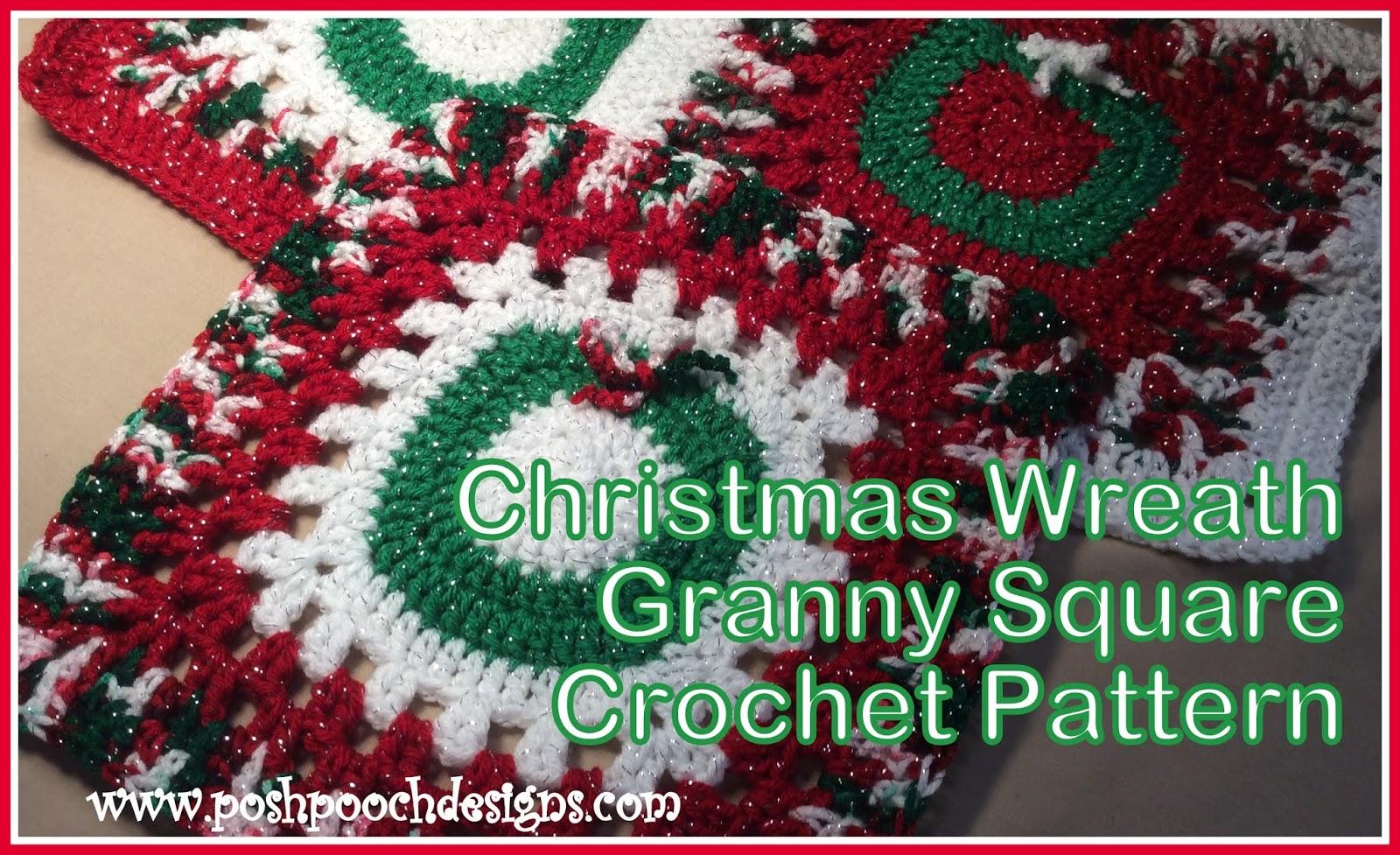 Posh Pooch Designs Dog Clothes: Christmas Wreath Granny Square Table ...