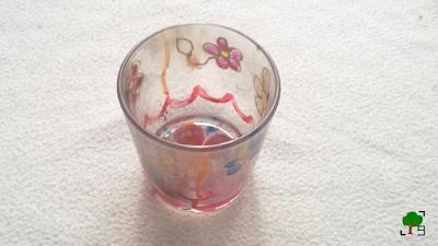 DIY, ozdobne szklanki malowane, ornament, wzór, kwiaty