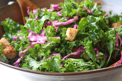 slivered kale salad with shaved parmesan and lemon zest